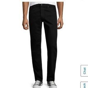 Black Slim Straight Jeans